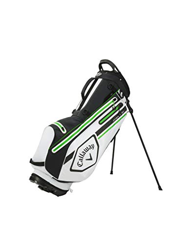 Callaway Golf Unisex's 2021 Chev Dry Stand Bag, Epic White/Black/Green, One...