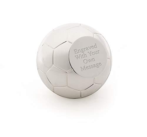 Briefbeschwerer mit Fußball-Motiv, versilbert, personalisierbar