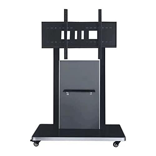 TabloKanvas TELEVISOR Stand Mobile Floor Stand Conference Hall Hall Hall Actividad Carrito Monitor de Rack Rotación de 55-86 Pulgadas (Color : Black B)