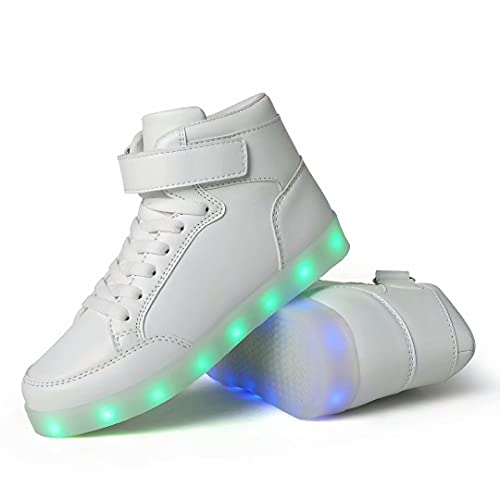QTMS Boys Girls Breathable LED Light Up Shoes Flashing...