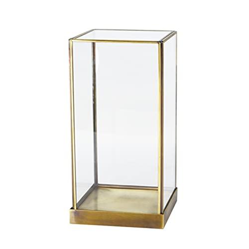 Perfeclan Caja organizadora geométrica de joyería de Cristal Caja de Escritorio Soporte de la vanidad Caja Organizador de la joyería Muestra Decorativa Recuerdo - L
