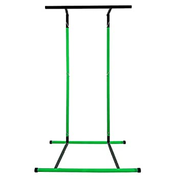 Happybuy 330LBS Pull Up Bar Free Standing Dip Station Portable Power Tower Multi-Station for Home Gym Fitness Equipment with Storage Bag,Green