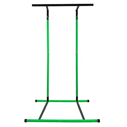 Happybuy 330LBS Pull Up Bar Free Standing Dip Station, Portable Power Tower Multi-Station for Home Gym Fitness Equipment with Storage Bag,Green