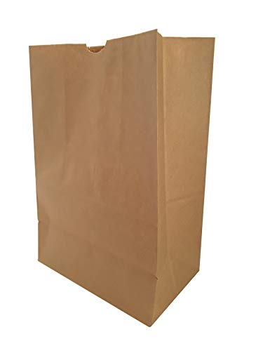 Duro Heavy Duty Kraft Brown Paper Grocery Bag, 57 lbs Basis Weight, 12 x 7 x 17 (20) with Labels
