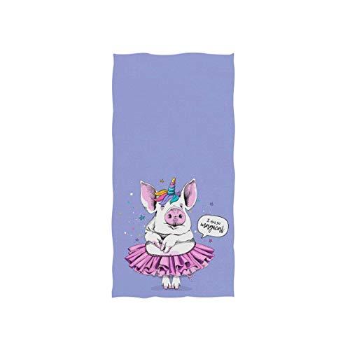 Candi-Shop Cute Pig In A Ballerina Toalla Tutu Toalla De Microfibra Toalla De Mano Toalla De Impresión Ultraligera De Una Cara Toalla De Dedo