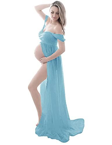 FEOYA Mujer Vestido Premamá Fotografía Vestido para Embarazadas de Maternidad para Fiesta...