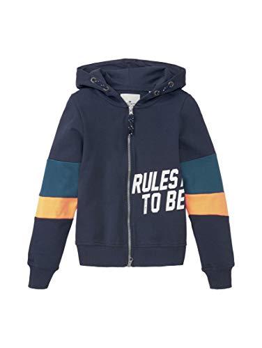 TOM TAILOR Jungen Strick & Sweatshirts Sweatjacke mit Colorblocking Dress Blue|Blue,176