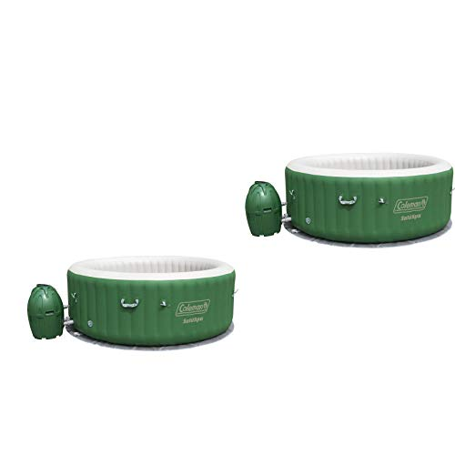 Coleman SaluSpa 6 Person Inflatable Spa Bubble Massage Hot Tub (2 Pack)