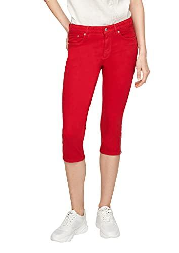 s.Oliver Damen Slim Fit: Jeans mit besticktem Bund red 32