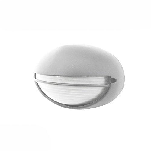 Plafoniera esterna ovale con visiera in argento 60W E27