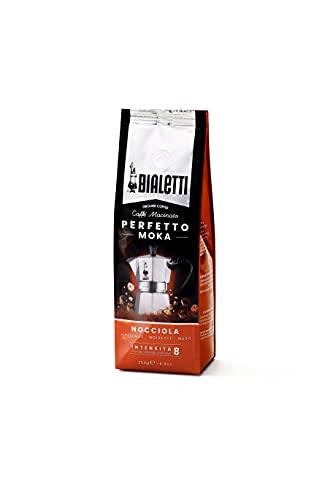 Bialetti Perfetto Moka Caffè Macinato, Gusto Nocciola - 1 x 250 gr