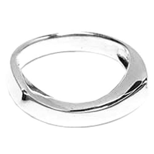 指輪 シルバー925 リング メンズ ピュア シルバーリング/17号 シンプル SILVER925 銀 アーチ 丸い プレーン 薬指 中指 人差し指 親指