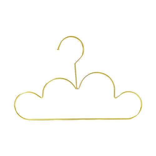Fhdpeebu Set di 10 grucce appendiabiti in metallo antiscivolo per bambini, colore dorato, per vestiti