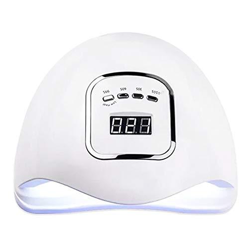 150 W Nail Lampe UV LED Rapide Gel Sèche Ongles Portable Durcissement Lampes Auto Capteur Profession Nail Outils avec 4 Temporisateurs Cadeau (Couleur : Blanc)
