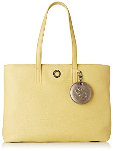 Mandarina Duck Damen Mellow Leather Tracolla Kuriertasche, Gelb (Starfruit), 15x27x36 Centimeters