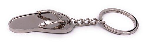 H-Customs Flip-Flop Sandale Silber Schlüsselanhänger Anhänger