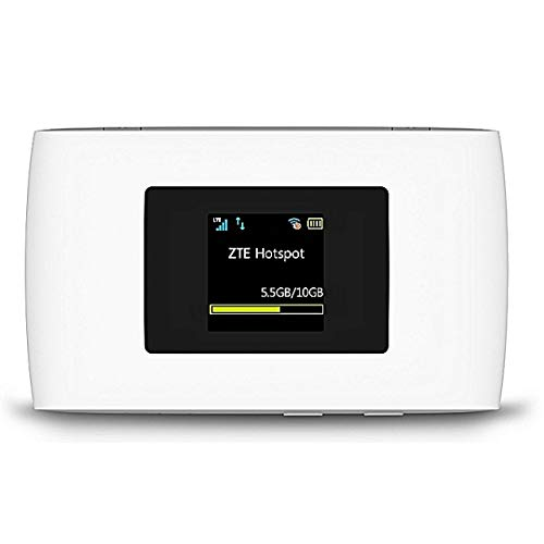 Router Hotspot ZTE MF920U 4G LTE Global 150 Mbps Mobile WiFi (4G LTE USA, LATAM, Europe, Asia, Middle East, Africa & 3G Globally)