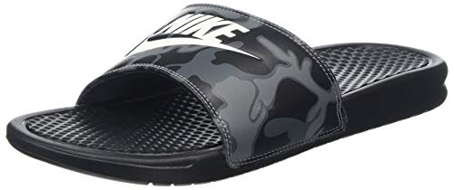 Nike Benassi Just Do It Print, Zapatos de Playa y Piscina para Hombre, Negro (Black/Summit White 013), 41 EU