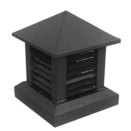 JXJ Tapa de Chimenea Tapa de Chimenea Aleación de Aluminio Tapa de Drenaje Cuadrada Tapa de ventilación de Techo Tapa de Rejilla de Lluvia Tapa a Prueba de Viento (Color: Marrón, Tamaño: 350 mm)
