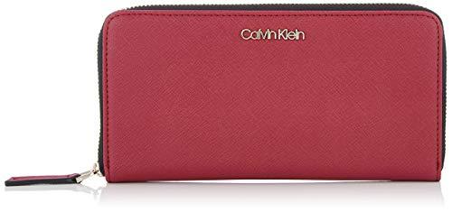 Calvin Klein Worked Lrg Ziparound - Portafogli Donna, Rosso (Tibetan...