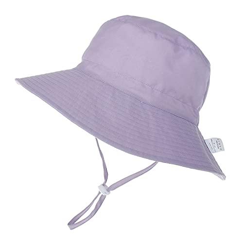 Unisex Kleinkind Baby Sonnenhut Verstellbarer Hut UPF 50 mit Nackenschutz Schirmmütze Anti-UV Hut Mütze Atmungsaktiv Strandhut Sommer Outdoor UV Schutz Hut