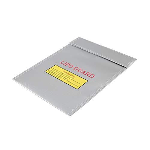Licini Bolsa de seguridad para Lipo a prueba de fuego a prueba de explosiones Portátil de gran capacidad Durable Batería de polímero de litio RC Seguridad Bolsa de...