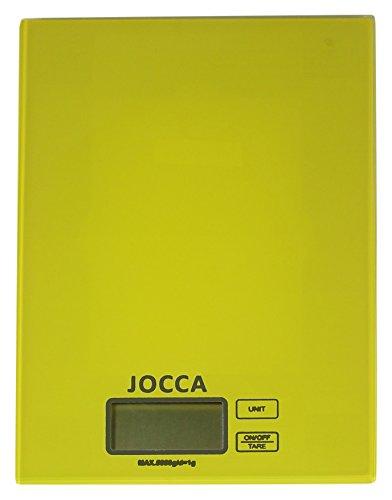 Jocca 7154V Báscula de cocina, color verde, Cristal