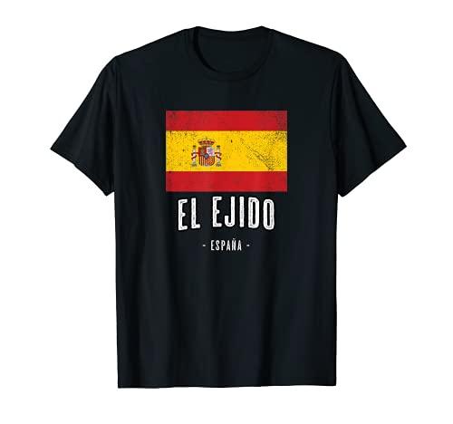 El Ejido España   Souvenir Linda Ciudad - Bandera Española - Camiseta