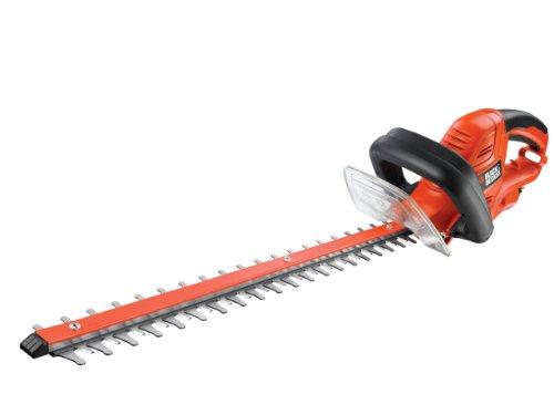 Black + Decker BEHTS451GB Double Blade Electric Hedge Trimmer, 550 W, Orange