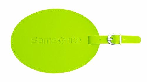 Samsonite Large Vinyl Id Tag, Neon Green