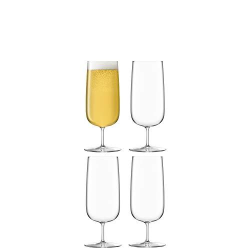 LSA Borough BG06 - Copa de cerveza, 440 ml, 4 unidades, transparente