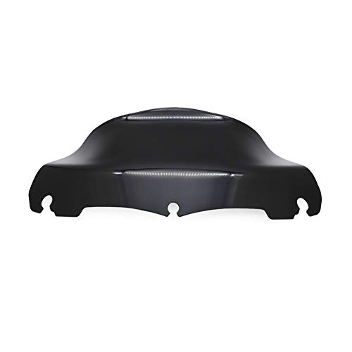 AUTOVIC 9.3' Black Wave Windscreen Windshield For Electra Glide Street Glide Tri Glide Ultra Limited 2014-2019