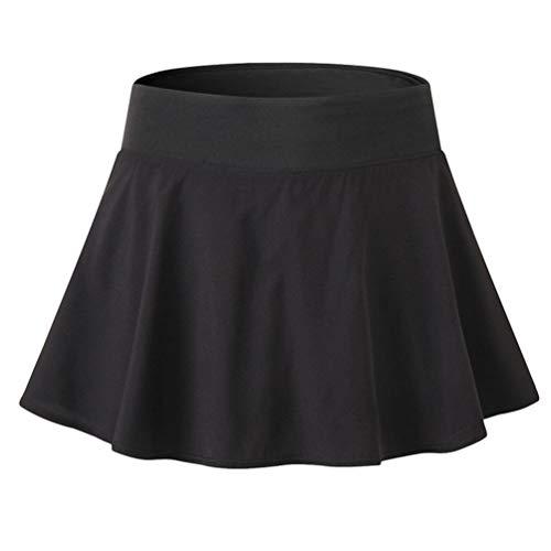 Yujeet Falda Deportivas de Tenis para Mujer Falda de Golf Minifalda Elástica Plisada con Interior Shorts