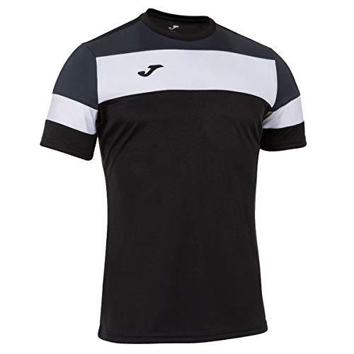 Joma Crew IV Camisetas Equip. M/C, Hombre, Negro-Antracita, 2XL-3XL