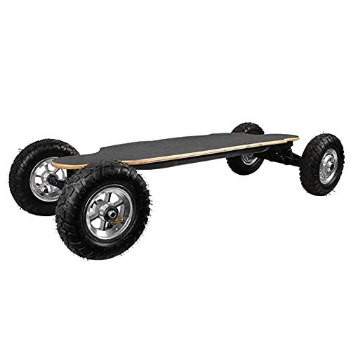 TGHY Skateboard Eléctrico Todoterreno con Mando a Distancia Motor de Cubo Doble de 1650W 40km/h Alcance de 20km Arce de 9 Capas Longboard Eléctrico de Montaña para Jóvenes y Adultos