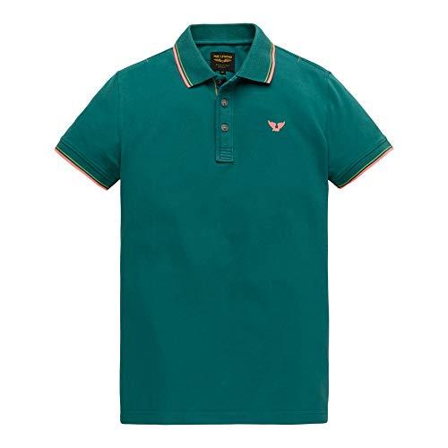 PME Legend Short Sleeve Polo Stretch Pique, blau(colonialblue), Gr. L