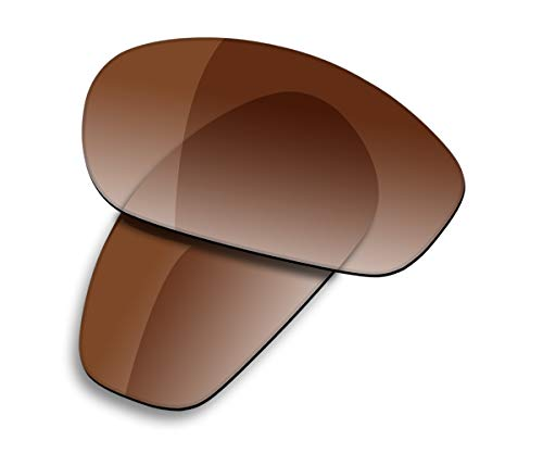 Saucer Lentes de repuesto premium para gafas de sol Oakley Encounter OO9091, High Defense - Tinte degradado marrón polarizado, Taille unique