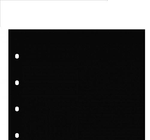 SAFE 5 x 7402 Premium Schwarze Zwischenblätter - Zwischeneinlagen passend Premium & Artline Münzhüllen - Münzblätter - Banknotenblätter - Postkartenblätter - Ergänzungsblätter