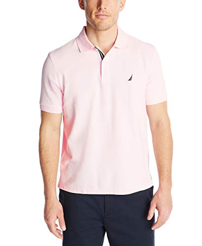 Nautica Men's Classic Short Sleeve Solid Polo Shirt, Cradle Pink, XX-Large
