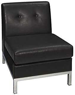cd716324d Amazon.com  Armless - Guest   Reception Chairs   Chairs   Sofas ...