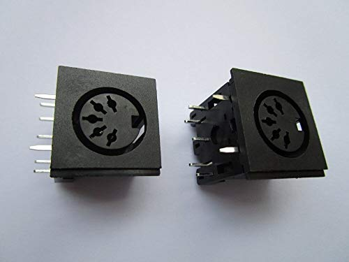 SHENMQ 50PCS Circular DIN Jack Vrouw S Terminal 5 pin PCB Mount Connector