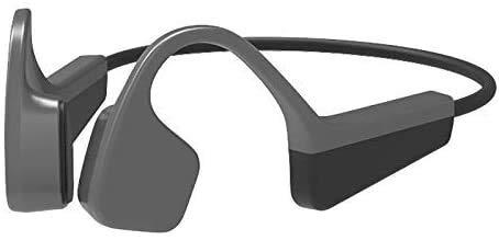 NCRD Auriculares de conducción ósea Auriculares portátiles Bluetooth inalámbrico 5.0 Conectividad Auriculares Deportivos Resistentes al Sudor con Control de Volumen de micrófono for Correr Senderismo