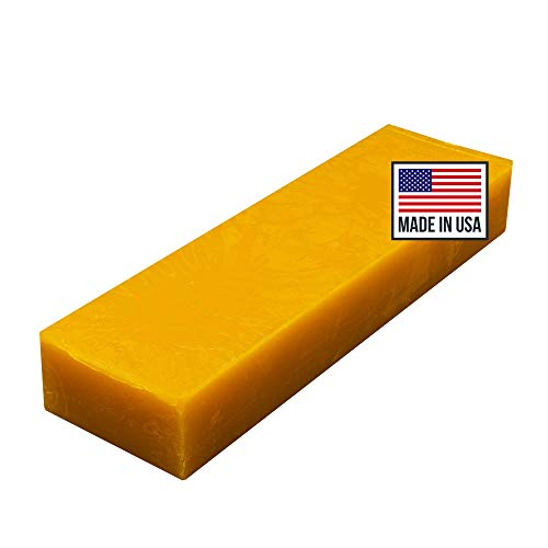 Blended Waxes, Inc. Cheddar Cheese Wax 1lb. Block - Fully Refined Premium Wax For Cheese Making - Wax Can Be Used For A Variety Of Different Cheese Types (1, Orange)