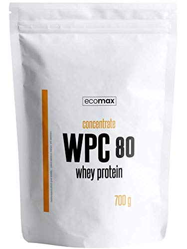 ECOMAX WPC 80 Whey Protein 700 g Chocolate | Increases Muscle Growth | Strengthens Bones