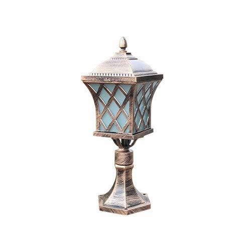Poste Pilar Light IP54 Impermeable Paisaje Accesorio de iluminación exterior Antióxido Lámpara de columna E27 de una sola cabeza Lámpara de estilo europeo Victoria Linterna para valla Jardín Villa
