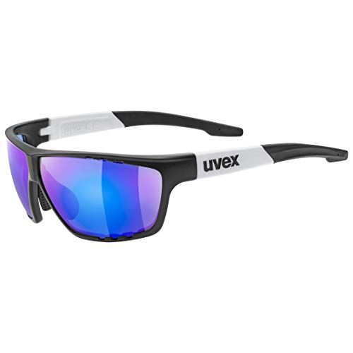uvex Unisex– Erwachsene, sportstyle 706 Sportbrille, black mat white/blue, one size