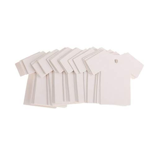 Healifty 100 st kraftpapper tomma etiketter kläder formade etiketter hängande pris etiketter etiketter presenter presentkort utan rep för butik butik (vit)