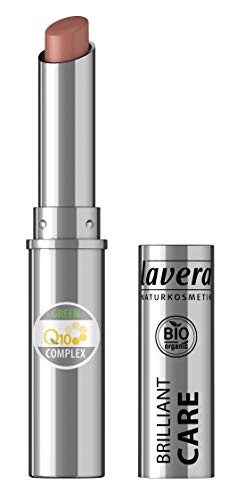 lavera Beautiful Lips Brilliant Care Lippenstift Q10 -Light Hazel 08- Lipstick ∙ Intensive Pflege...
