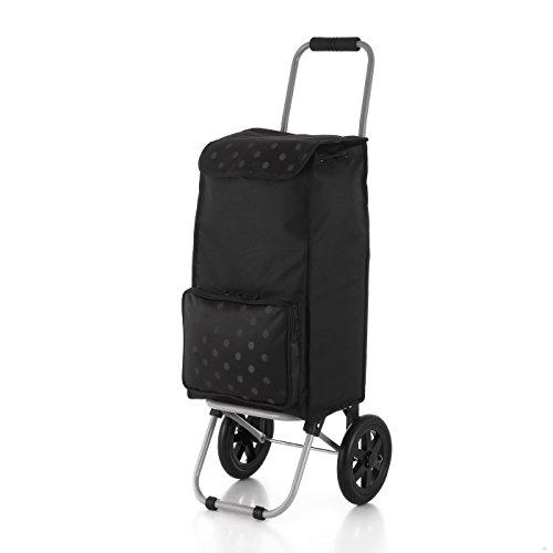 Rada Einkaufstrolley ER/1 40 Liter, robuster Marktroller, Einkaufswagen, Handwagen, mit 2 Rollen, wasserabweisender Transportwagen mit großen Rädern