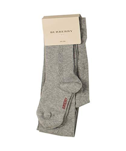 BURBERRY 6767U calzamaglia bimba cotone grigio calze tights kid [23/24]